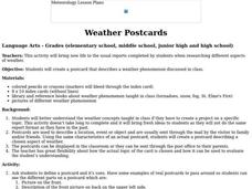 Weather Postcards Lesson Plan
