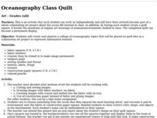 Oceanography Class Quilt Lesson Plan