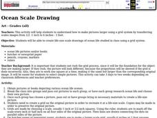 Ocean Scale Drawing Lesson Plan