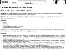 Ocean Animals vs. Humans Lesson Plan