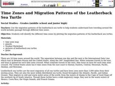 Time Zones and Migration Patterns of the Leatherback Sea Turtle Lesson Plan