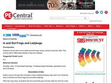 In and Out Frogs and Ladybugs Lesson Plan