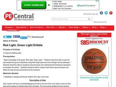 Red Light, Green Light Dribble Lesson Plan