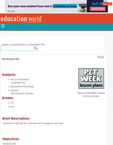 The Perfect Pet Lesson Plan