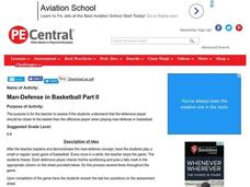 Man-Defense in Basketball Part II Lesson Plan