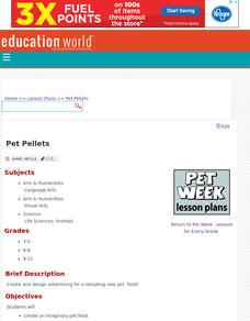 Pet Pellets Lesson Plan
