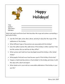 Happy Holidays! Worksheet