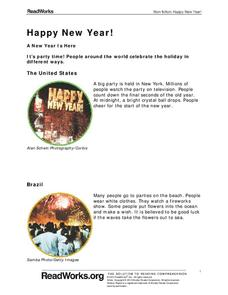 Happy New Year! Handouts & Reference