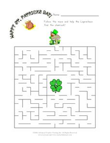 Happy St. Patrick's Day! Worksheet