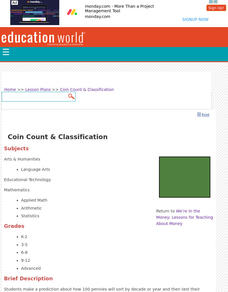 Coin Count & Classification Lesson Plan
