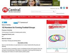 Football Numbers Lesson Plan