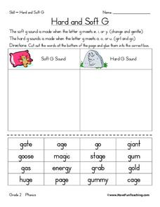 Hard and Soft G Worksheet