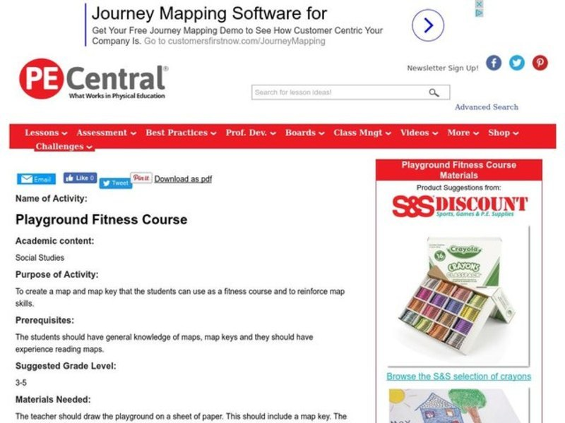 Playground Fitness Course Lesson Plan
