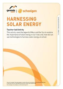 Harnessing Solar Energy Activities & Project