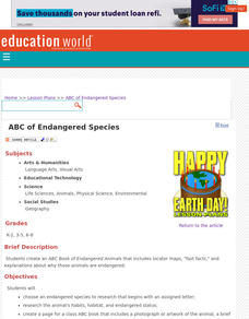 ABCs of Endangered Species Lesson Plan