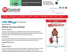 Striking: Accuracy and Power Lesson Plan