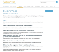 Passive Voice Website