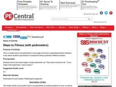Steps to Fitness (with pedometers) Lesson Plan