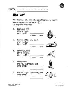 Hay Day Worksheet