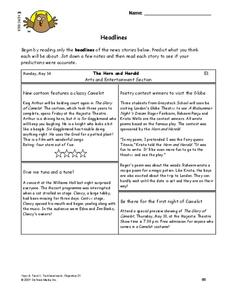 Headlines Lesson Plan