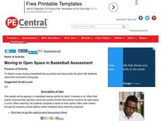 Moving to Open Space in Basketball Assessment Lesson Plan