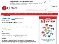 Pedometer Partner Fitness Fun (with Digi-walkers) Lesson Plan