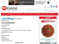 Reading Basketball Lesson Plan