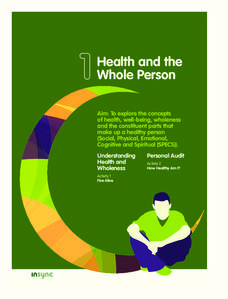 Health and the Whole Person Unit