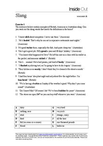 Slang Lesson Plans & Worksheets | Lesson Planet