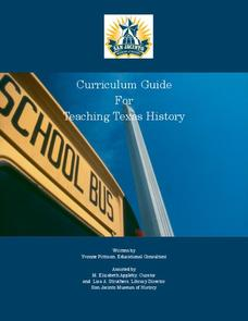 Curriculum Guide For Teaching Texas History Unit
