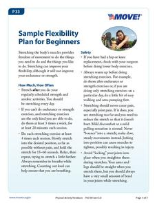 Sample Flexibility Plan for Beginners Handouts & Reference