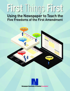 Using the Newspaper to Teach the Five Freedoms of the First Amendment Unit