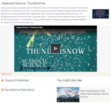 Seasonal Science: Thundersnow Video
