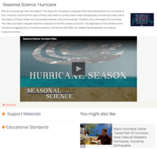 Seasonal Science: Hurricane Video