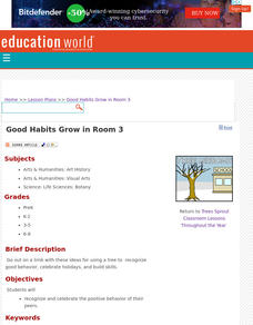 Good Habits Grow in Room 3 Lesson Plan