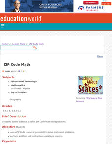 ZIP Code Math Lesson Plan