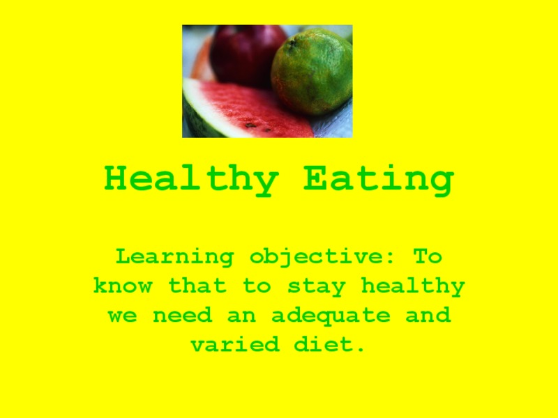 Healthy Eating Presentation