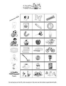 Healthy Smile Worksheet