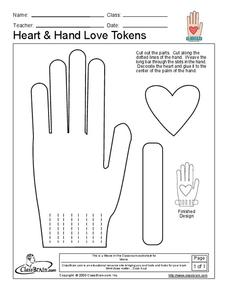 Heart and Hand Love Tokens Worksheet
