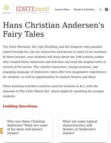 Hans Christian Andersen's Fairy Tales Lesson Plan