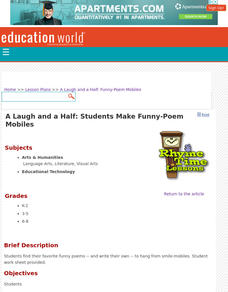 A Laugh and a Half: Students Make Funny-Poem Mobiles Lesson Plan