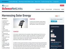 Harnessing Solar Energy Lesson Plan