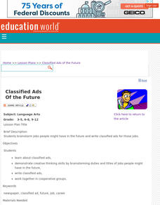 Classified Ads of the Future Lesson Plan