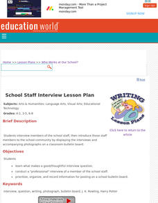 Who Works at Our School? Lesson Plan