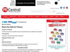 Roam the Halls for Fitness Lesson Plan