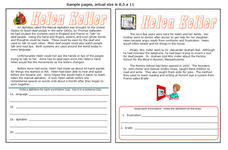 Helen Keller Worksheet