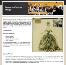 Lesson 2- Costume Design Activities & Project