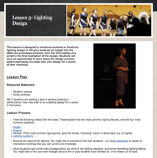 Lesson 3 - Lighting Design Activities & Project