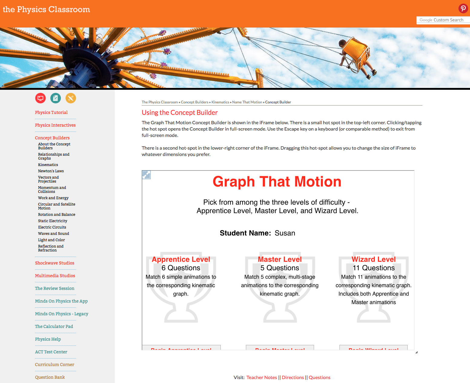Graph That Motion Interactive