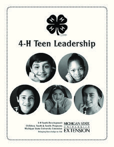 4-H Teen Leadership Unit